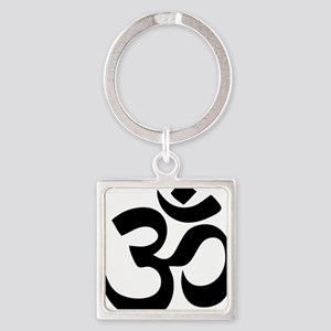 Om Aum Square Keychain