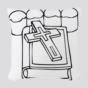 00032_Cross Woven Throw Pillow