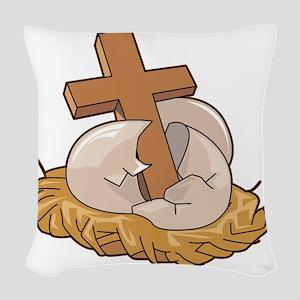 00048_Cross Woven Throw Pillow