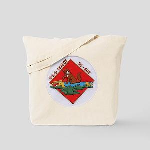 uss sea fox patch transparent Tote Bag