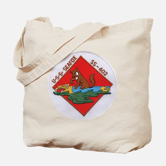 uss sea fox patch transparent Tote Bag