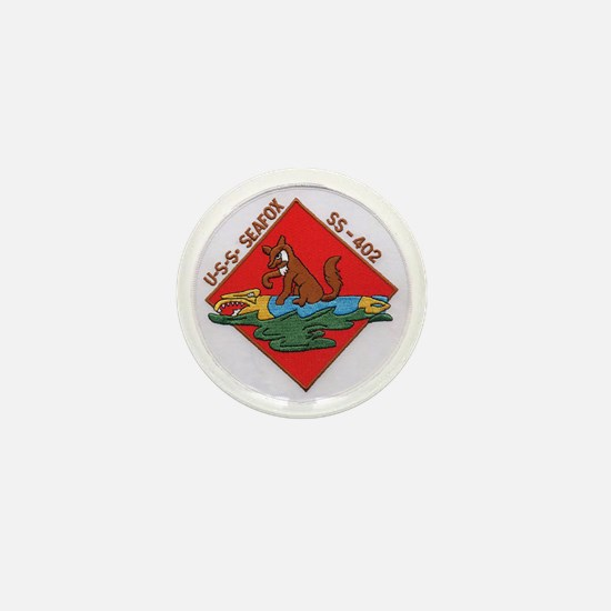 uss sea fox patch transparent Mini Button
