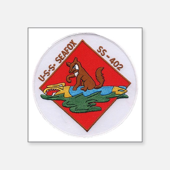 "uss sea fox patch transpare Square Sticker 3"" x 3"""