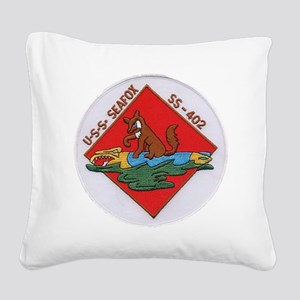 uss sea fox patch transparent Square Canvas Pillow
