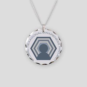 Hexagonal Awareness Necklace Circle Charm