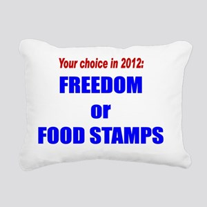 Freedom or Food Stamps Rectangular Canvas Pillow