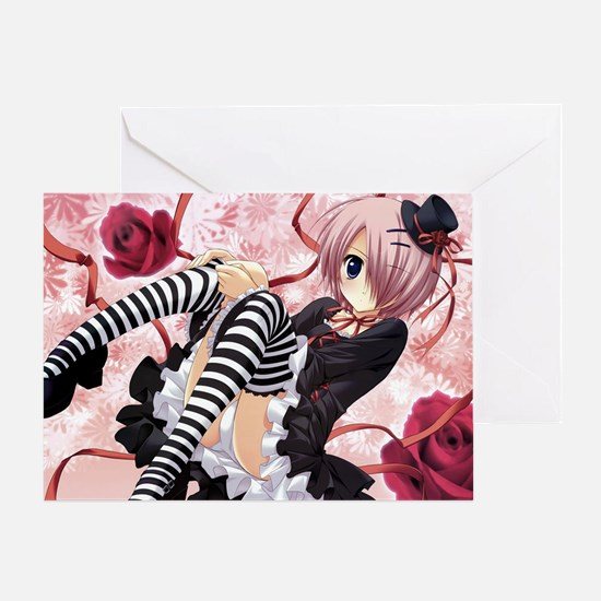 Anime Emo Girl Greeting Card