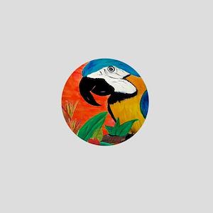 Parrot Head Mini Button