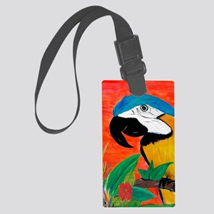 Parrot Head Large Luggage Tag
