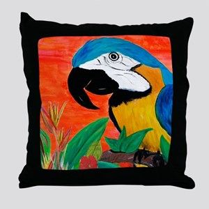 Parrot Head Throw Pillow