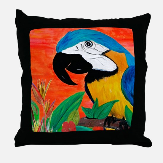Parrot Head Throw Pillow