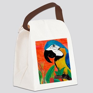 Parrot Head Canvas Lunch Bag