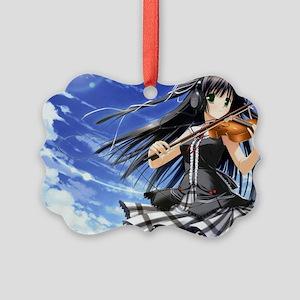 Anime Violin Picture Ornament