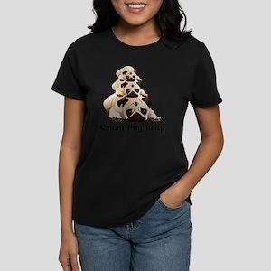 Crazy Pug Lady Women's Dark T-Shirt