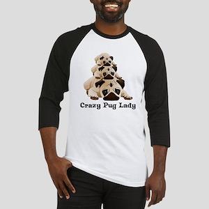Crazy Pug Lady Baseball Jersey