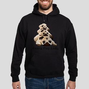 Crazy Pug Lady Hoodie (dark)