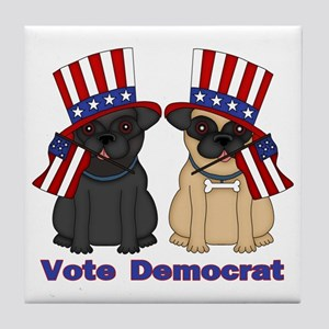 Vote Democrat Tile Coaster