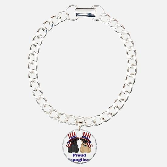 Proud Repuglican Charm Bracelet, One Charm