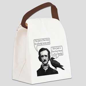 I'm Just A Poe Boy - Bohemian Rha Canvas Lunch Bag