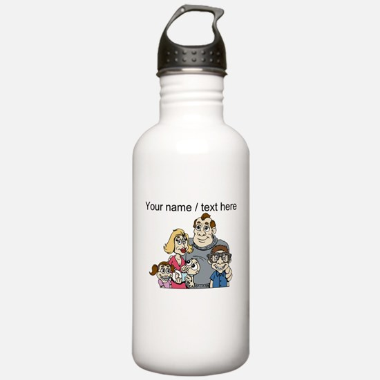 Custom Traditional Family Water Bottle