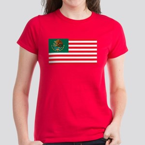 Mexican American Flag Women's Dark T-Shirt