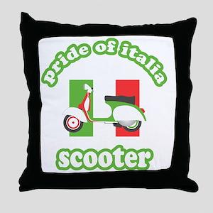 VESPA PRIDE OF ITALIA Throw Pillow