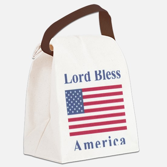 Lord Bless America Canvas Lunch Bag