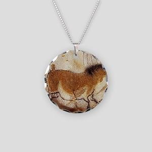 Lascaux Hose Painting Necklace Circle Charm