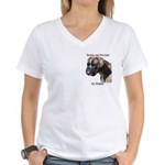 Boxers are the Best Brindle u Women's V-Neck T-Shi