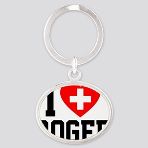 Roger Oval Keychain