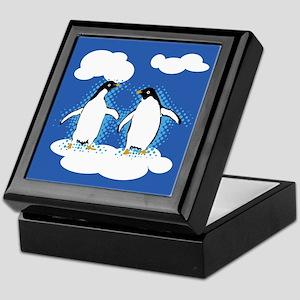 Dancing Penguins Keepsake Box
