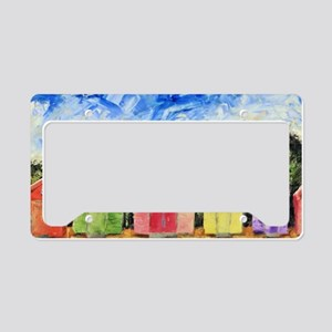 Beach Huts License Plate Holder