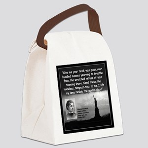 Lazarus Liberty Quote 2 Canvas Lunch Bag