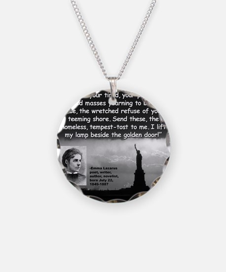 Lazarus Liberty Quote 2 Necklace