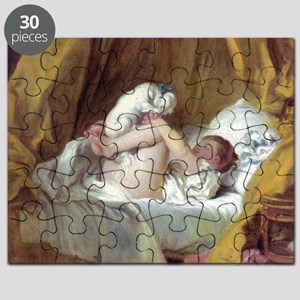 Jean-Honore Fragonard Girl With A Dog Puzzle