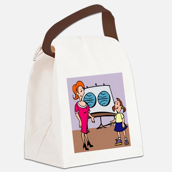 00028_Teacher.gif Canvas Lunch Bag