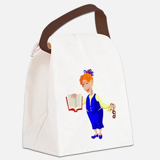 00031_Teacher.gif Canvas Lunch Bag