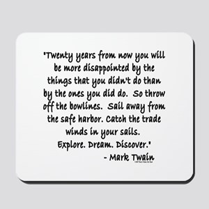 Mark Twain Mousepad