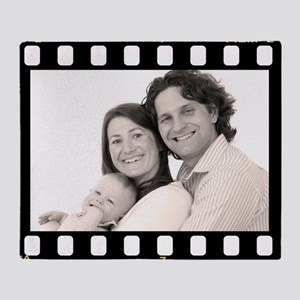 Photo Filmstrip Personalized Throw Blanket