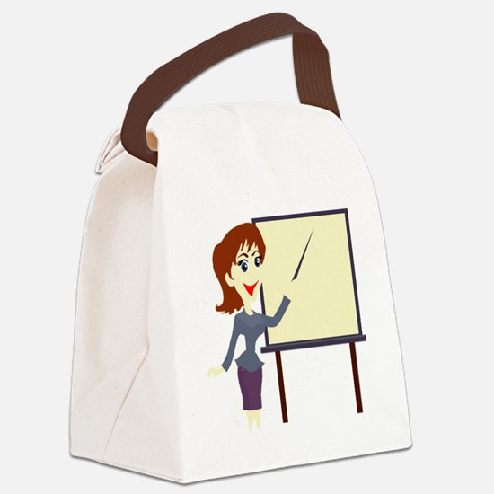 00081_Teacher.gif Canvas Lunch Bag