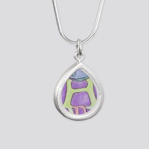 World of Hope Silver Teardrop Necklace