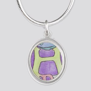 World of Hope Silver Oval Necklace