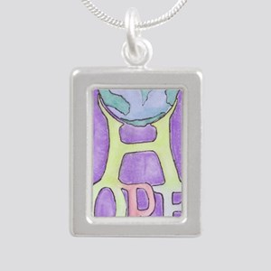 World of Hope Silver Portrait Necklace