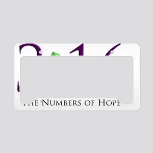 Numbers of Hope License Plate Holder