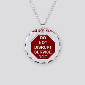 stop sign Necklace Circle Charm
