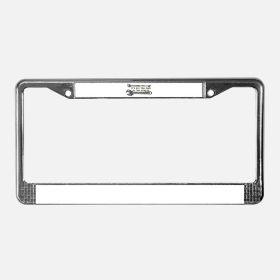 It's not the size of the wren License Plate Frame