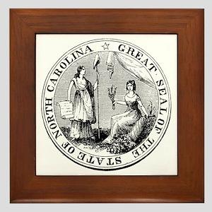 North Carolina State Seal Framed Tile