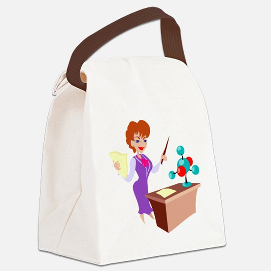 00294_Teacher.gif Canvas Lunch Bag