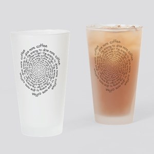 Coffee Spiral Drinking Glass