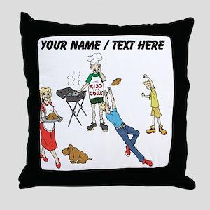 Custom Family Cookout Throw Pillow